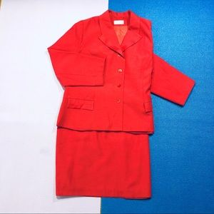 Henry Lee Petite Woman's Red Suit (jacket &skirt)